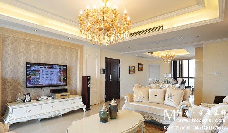 客厅墙面颜色效果图 米黄